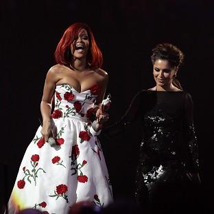 Cheryl Cole presented Rihanna with an award at last year's Brits