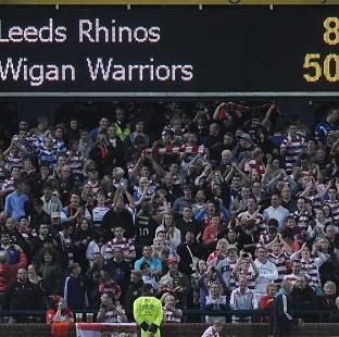 Wigan Warriors' fans celebrate