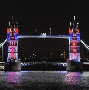 Protesters are to demonstrate near Tower Bridge, here seen lit up to mark the Diamond Jubilee