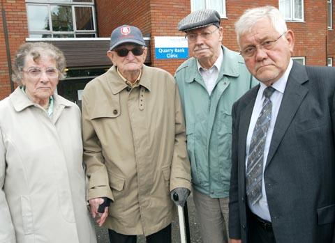 Lydia and Cecil Green, Walter Hunt and councillor Bryan Cotterill. Buy photo: 251267M