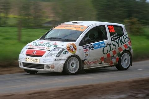 Richard Sykes in action at the Jim Clark rally