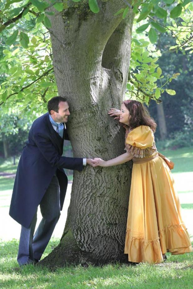 David Claridge and Karen Whittingham as Heathcliffe and Cathy. Buy photo: 281226AM