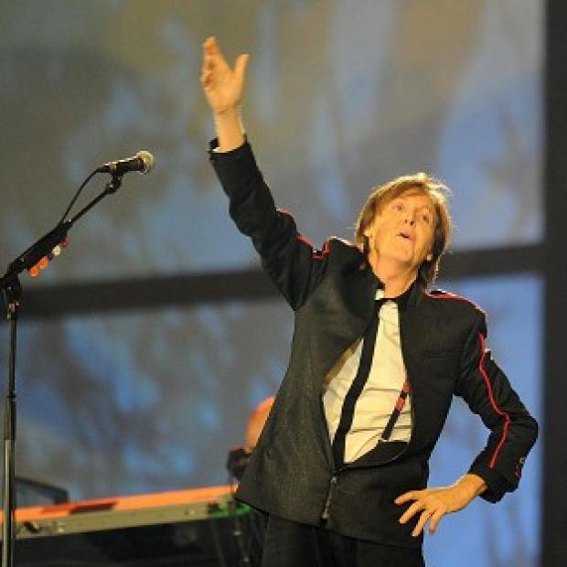 Sir Paul McCartney performs during the London Olympic Games 2012 opening ceremony