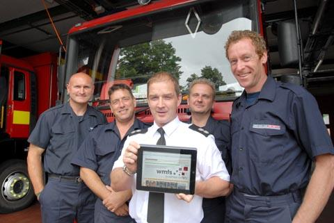 l-r Stourbridge firefighters Jamie Willetts, Mark Noott, Ant Dingley, Steve Hunter and Chris Oliver are hoping people will go online to vote and make their station the best in the West Midlands