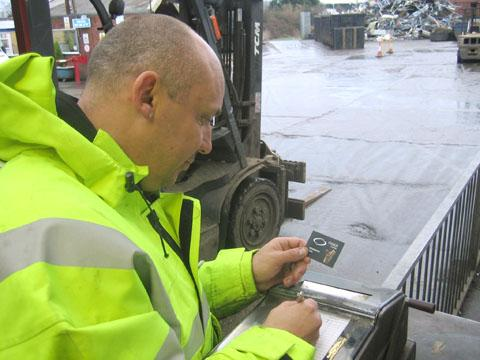 Stourbridge News: A worker at Mason Metals where preparations are well under way for new regulations to cut crime