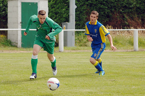 Action from Sports game with Bewdley Town last weekend