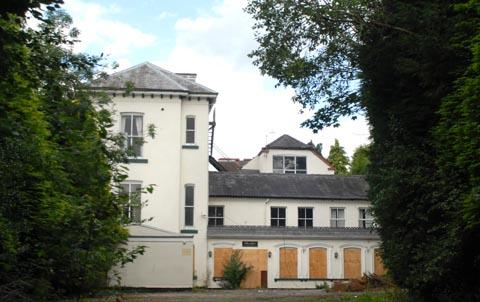 The derelict Mount Hotel in Clent