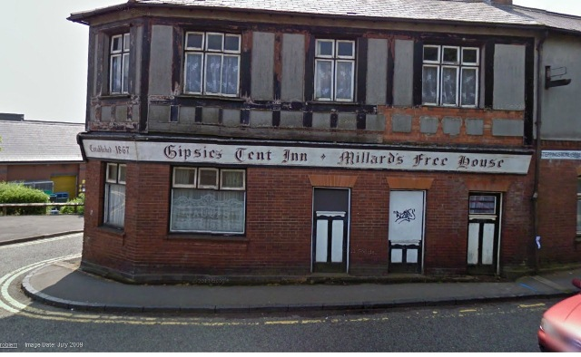 Arson attack at derelict Dudley pub