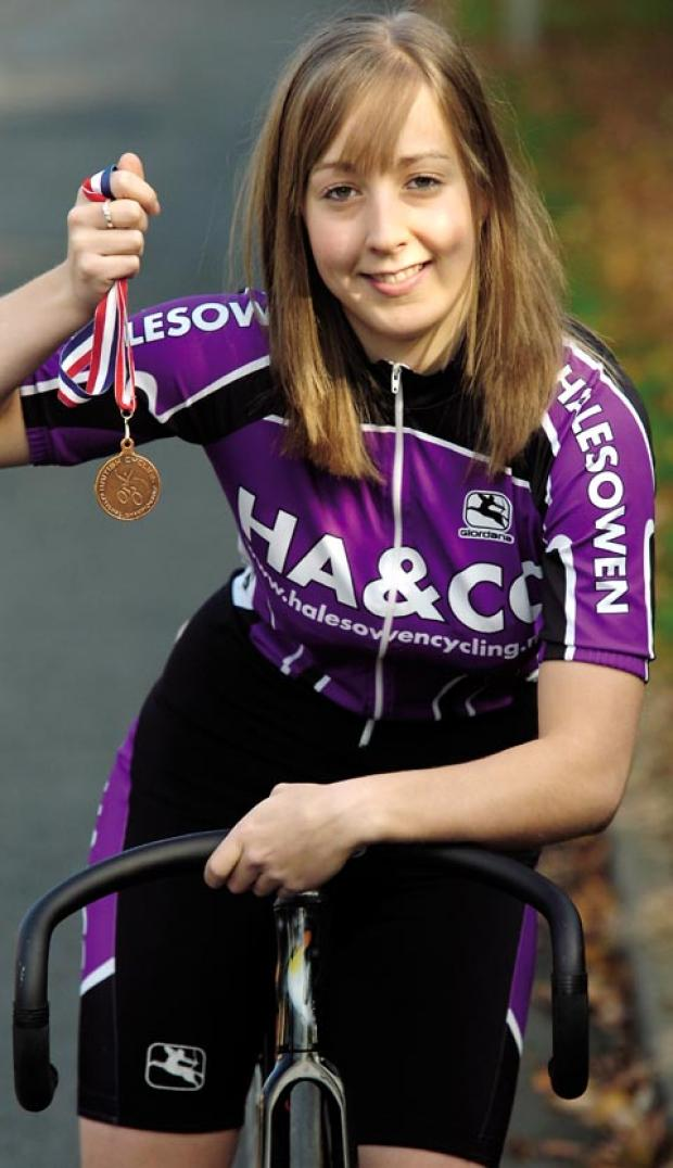 Helen Scott, pictured here as a junior at Halesowen Cycling Club, is also a keen musician