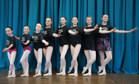 L-r - Mia Andrews, Emma Bentley, Sophie Piper, Emily Pritchard, Amy Bentley, Harriet Elis, Bethany Hickman, Mary Anderson