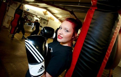 Gemma Small is the first female boxer at Stourbridge College's boxing academy