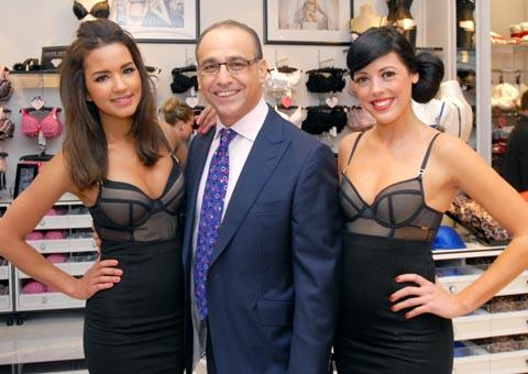 Dragon's Den star Theo Paphitis with Boux Belles - Erika Wright (left) and Natasha Loader. Buy photo: 481202M