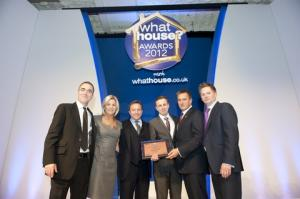 Award winners: James Nesbitt, Suzanne Revell (CRL), Clinton McCarthy (CRL), James Sandbrook (House to Home), Spencer McCarthy (CRL), James Collins (What House?)