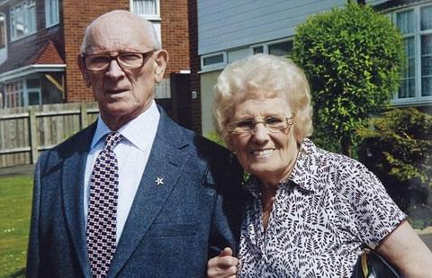Phyllis Coyle with husband Mick shortly before he died in 2010.