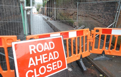 Stourbridge street to stay shut after wall collapse