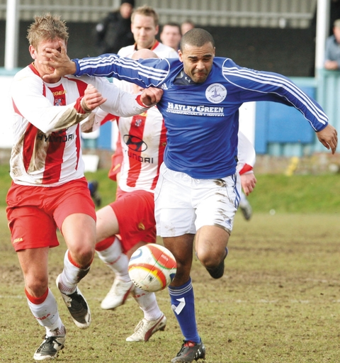 Stefan Moore in action for Halesowen Town