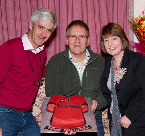 Chairman John Plant, president Russell Eden and vice chairman Elaine Hill.