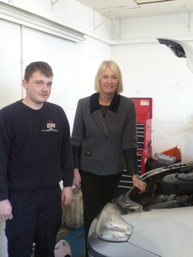 Margot James MP with Rhys Davies