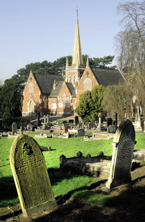 Lye and Wollescote Chapels - pic by Phil Loach.