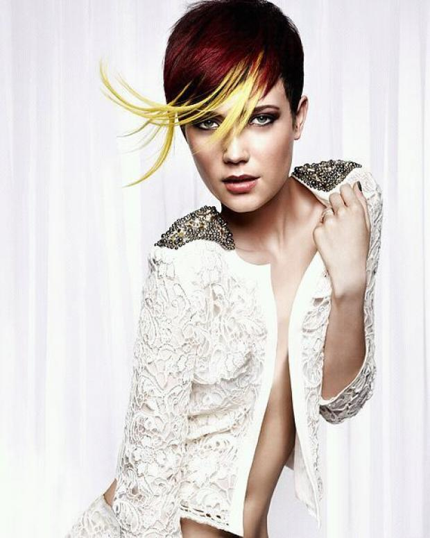 Stacey Williams - pictured modelling for Royston Blythe hair salon
