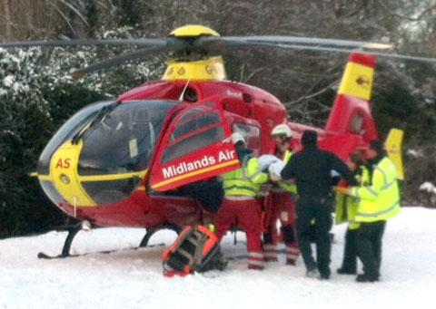 Midlands Air Ambulance medics in action