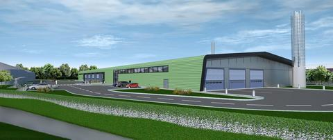 Artist's impression of the proposed new recycling centre
