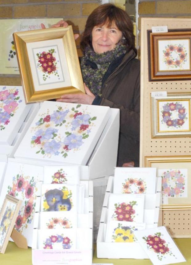 In bloom: Steph Cutler with her creations.