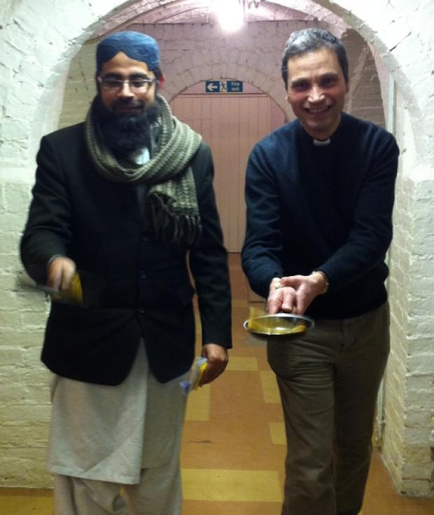 Imam Hashmi and Reverend Andrew Wickens from St James' Church