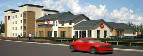 An artists impression of the new Premier Inn on Birmingham Street in Stourbridge