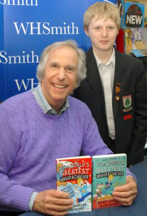 Henry Winkler and Sam Tombs, aged 12.