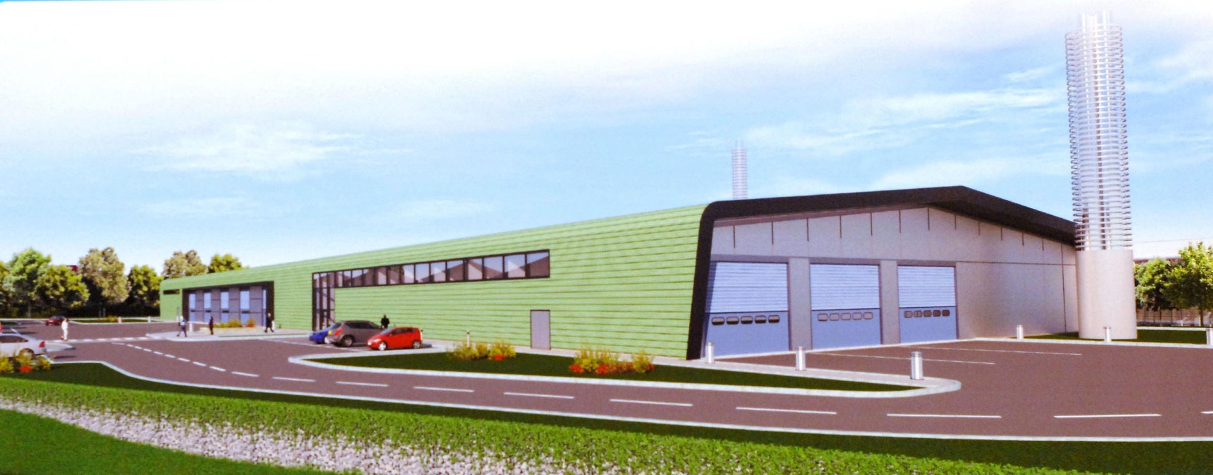 An artist's impression of the proposed recycling centre in Brierley Hill.