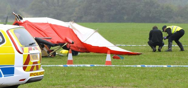 Stourbridge News: The scene of the crash which killed Andy Tollerton