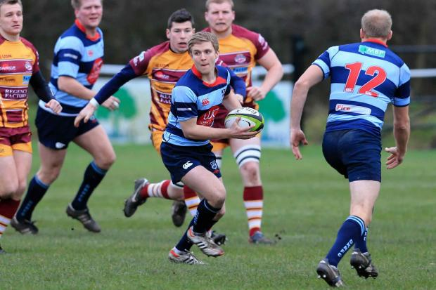 Kieron Pinches looks for some help during DK's dreadful defeat at Sedgley Park - picture by Ian Jackson