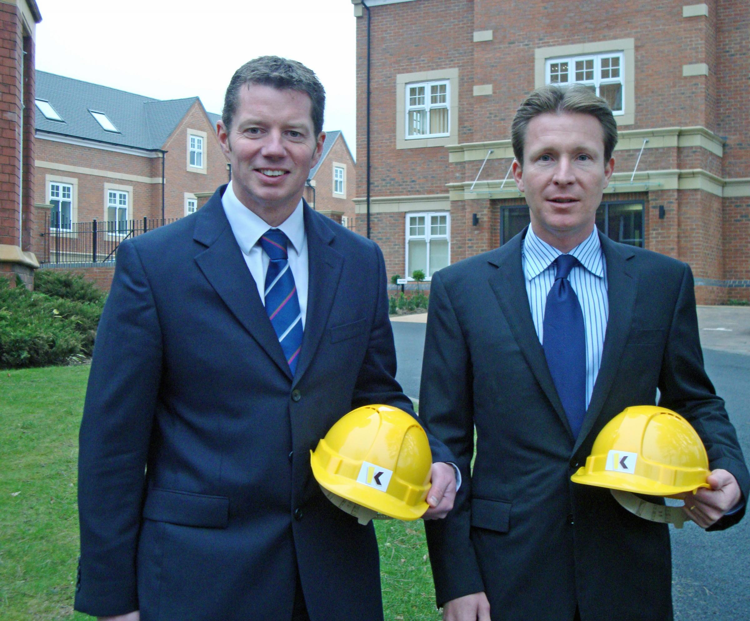 Left to right - James Rennison with William Kendrick with outside the new headquarters.