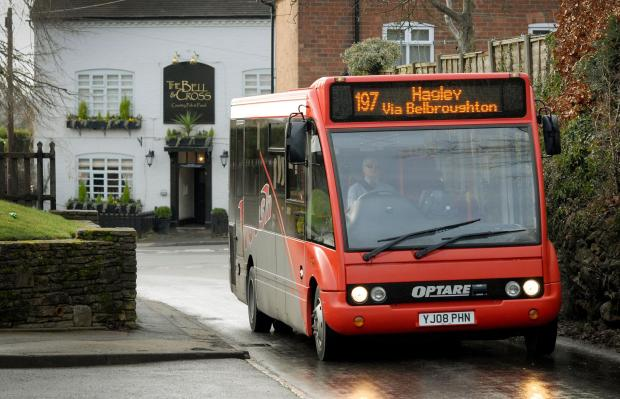 197 bus at Holy Cross, Clent. Buy photo: 031421L