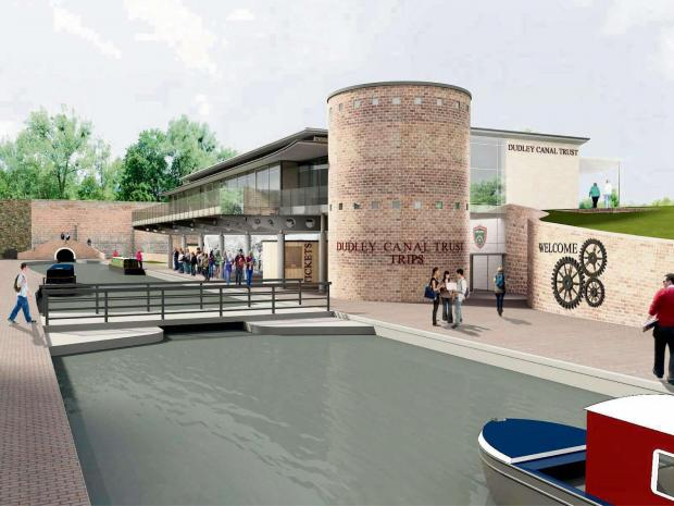 An artist's impression of Dudley Canal Trust's new £3m Portal which will be