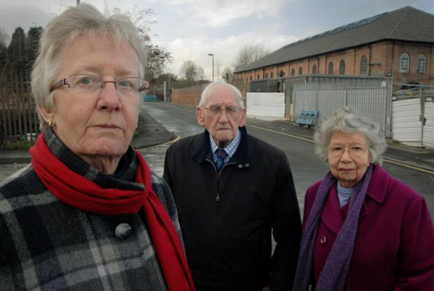 Concerned about the lack of public transport to the new medical centre: Cllr Barbara Sykes with Norton residents Louis and Marjorie Barber. Buy this photo: 051432L.