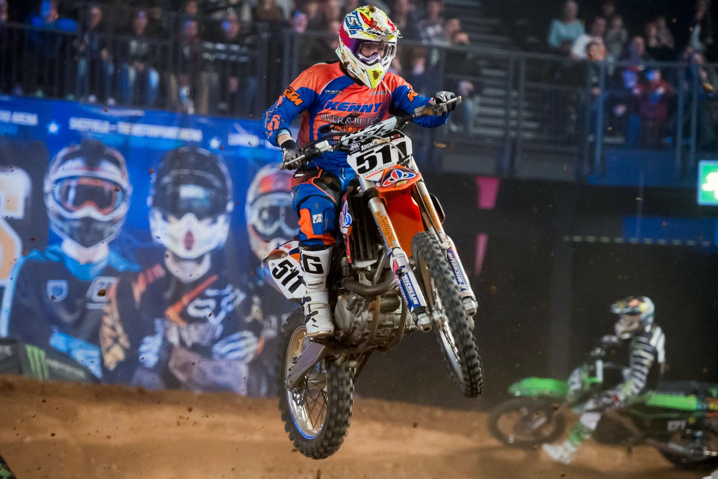 Wollaston's Steven Clarke... looking to get his Arenacross Challenge back on track this week in Newcastle
