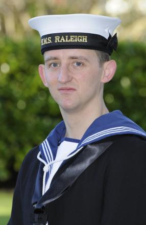 Jan Capewell has completed the first phase of his Navy training. Photograph by Dave Sherfield.