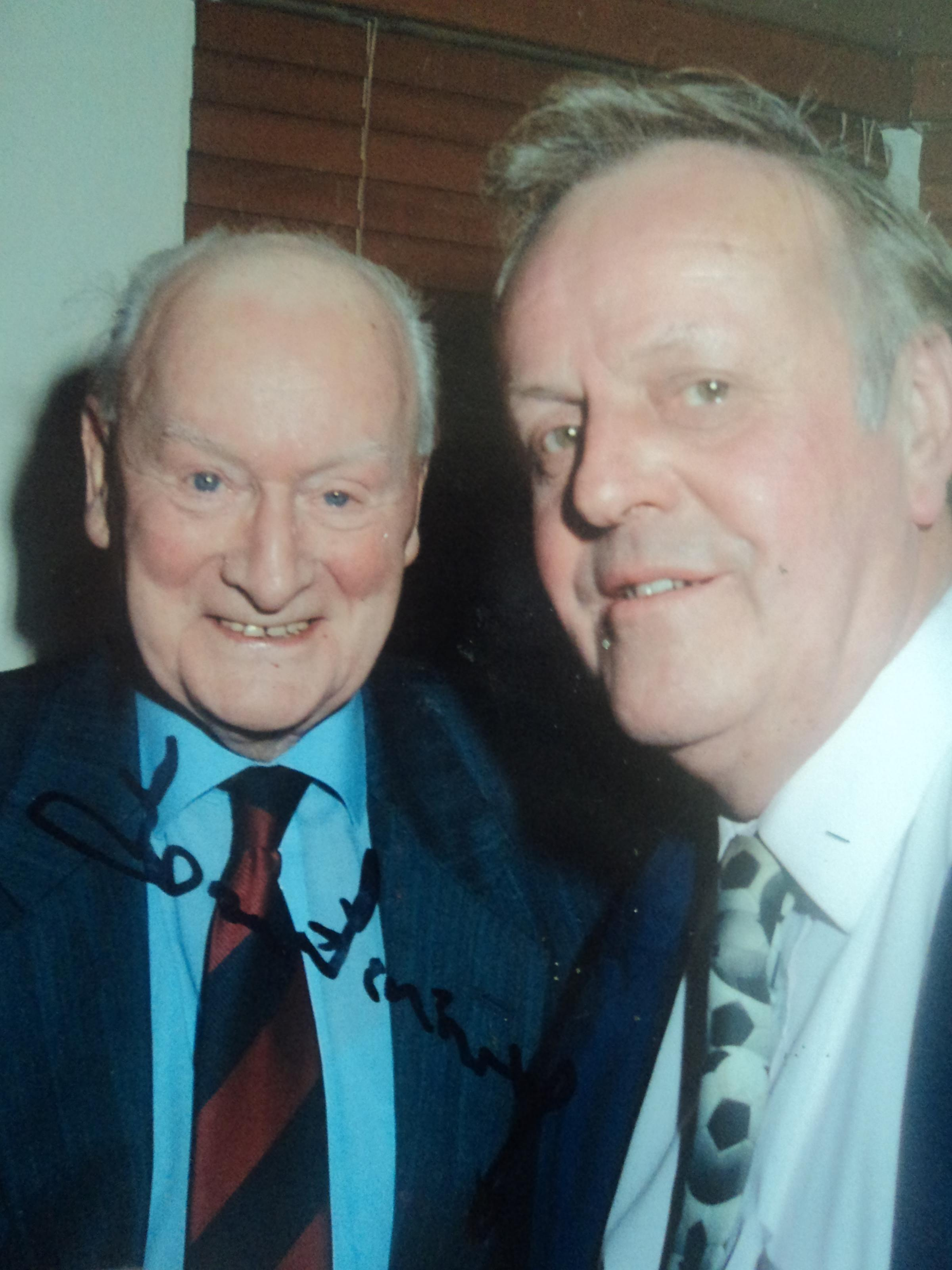 Ted Etheridge, right, with his sporting hero Sir Tom Finney