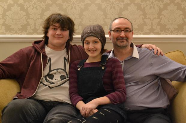 Stourbridge News: L-r: Alistair, Imogen and Andrew Westwood.