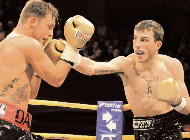 Stourbridge News: Sam Eggington tries to find a way through Dale Evans' defences during his last Prizefighter showing. Picture: leighdawneyphotography.com