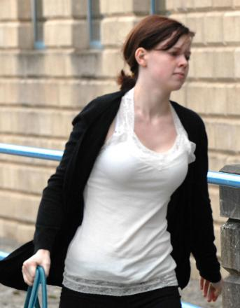 Bethany Pole arriving at Wolverhampton Crown Court at an earlier hearing.