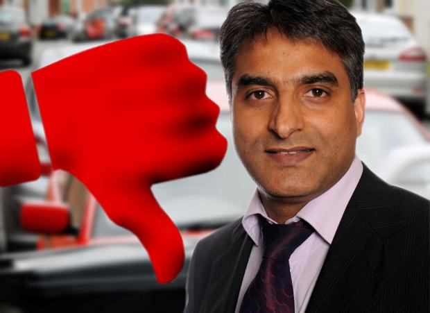 Thumbs down to council parking plan. Cllr Khurshid Ahmed, Dudley's cabinet member for transport.
