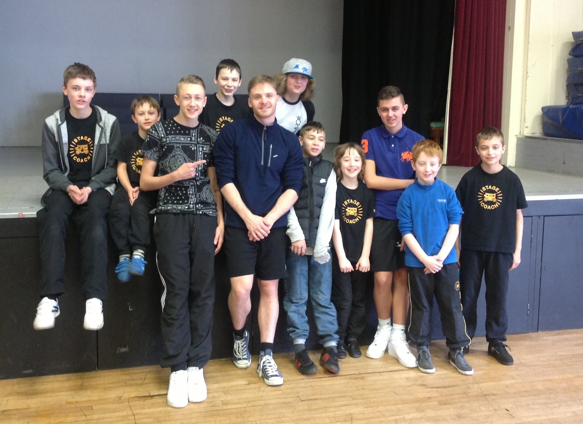 L-R: James Parsons, Zak Starkey, Jack Sanders, Kieran Sims, Ashley Andrews, Will Taylor, Joe Oliver, Fionn Guerin, Joshua Hill, Aran Guerin and Henry Blakeway.