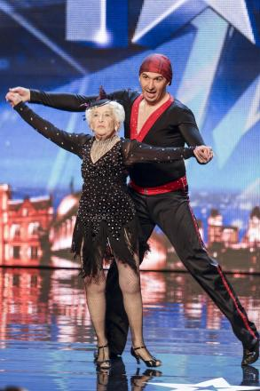 Paddy Jones and Nicko Espinosa on Britain's Got Talent.