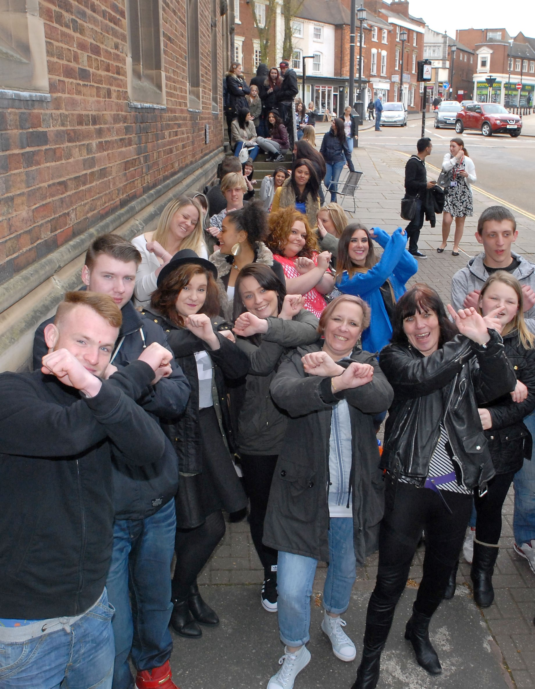 X Factor hopefuls in Dudley.