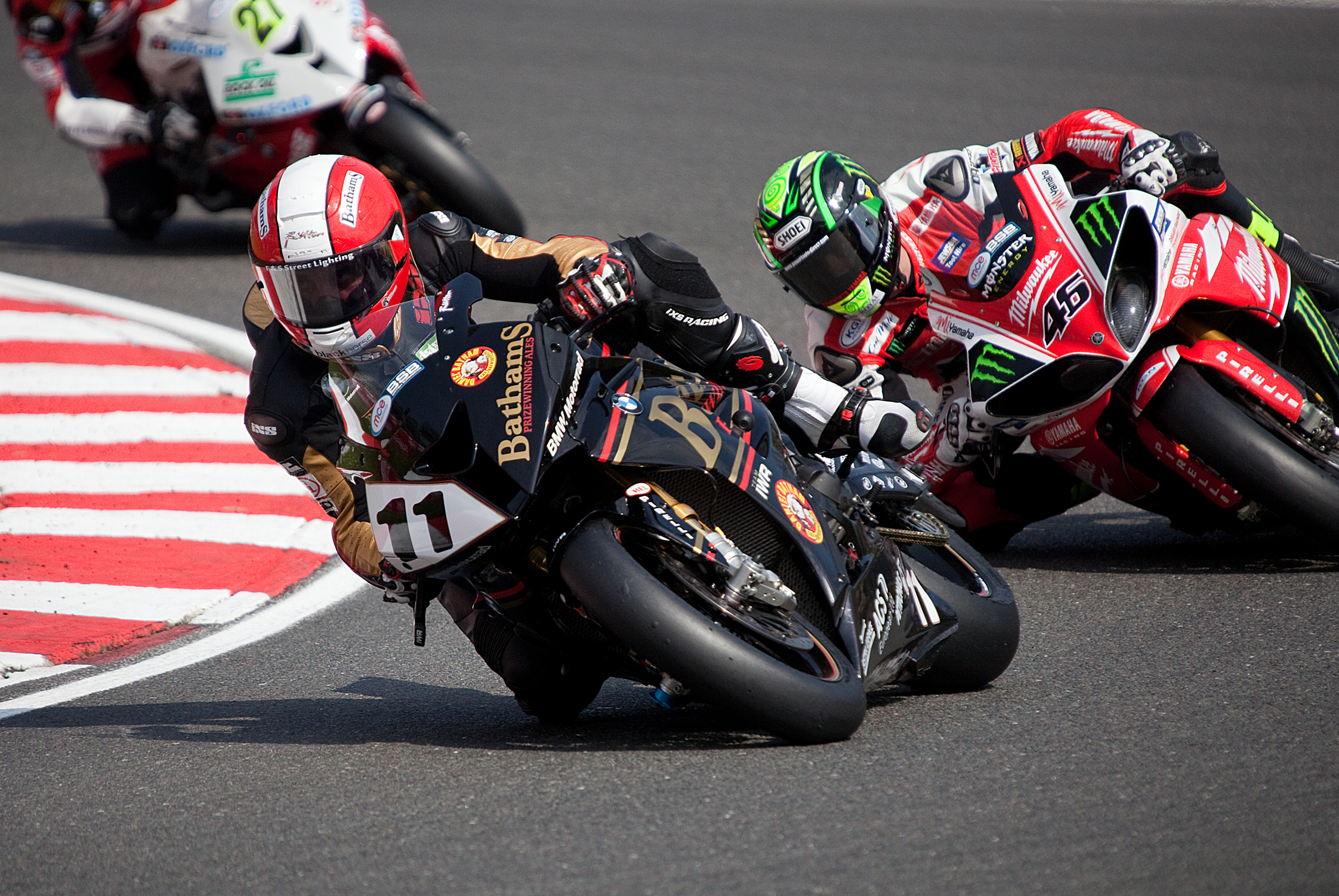 KIngswinford's Michael Rutter in action at Brands Ha