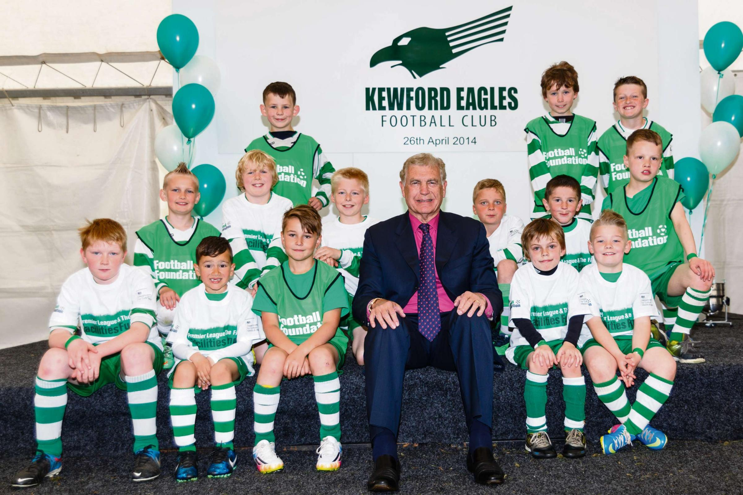 Sir Trevor Brooking CBE at the official opening of the new Kewford Eagles base. Pic by Mark Chappell/Stella Pictures Ltd