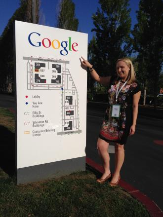 Rebecca Franks at Google headquarters.